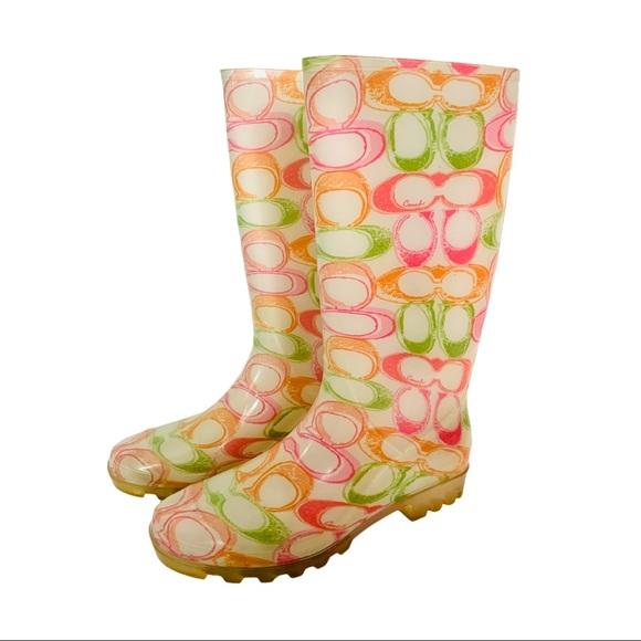 COACH Pixy Dream Logo Rain Boots